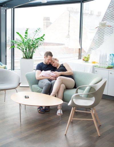 Neugeborenes im Krankenhaus Döbling