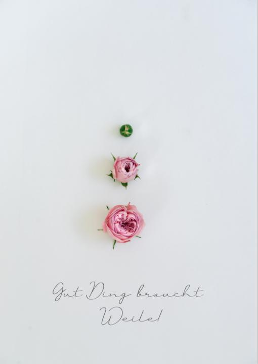 Fotoplakat Gut Ding braucht by Katharina Axmann Photography