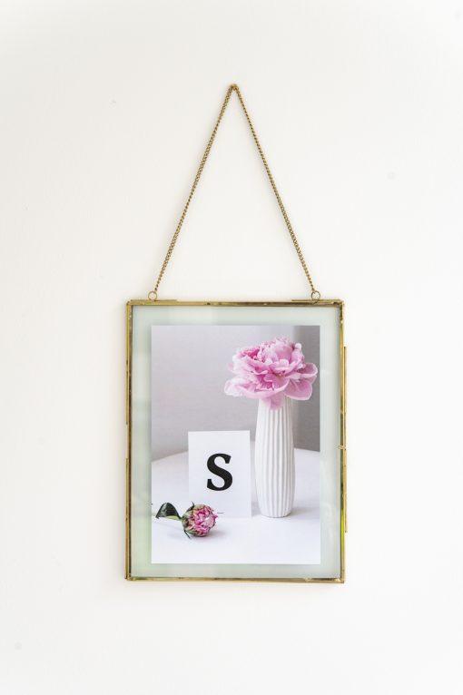 Fotoplakat mit Rahmen Buchstabenkarte