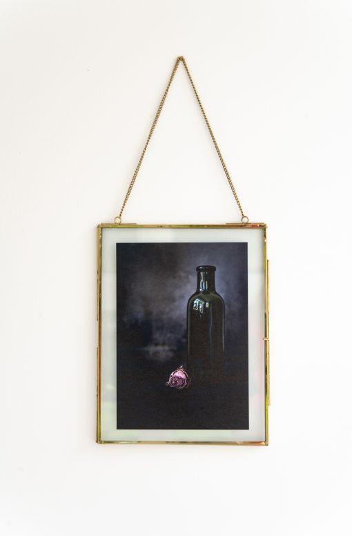 Fotoplakat mit Rahmen vergängliche Rose