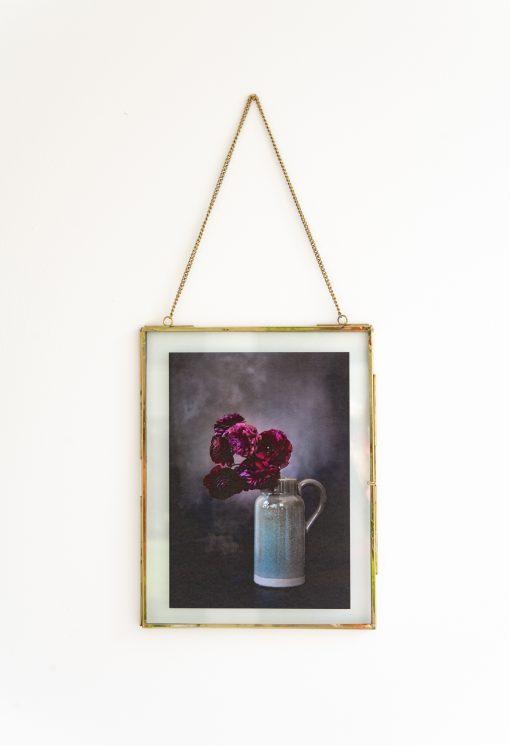 Fotoplakat mit Rahmen Blumenvase
